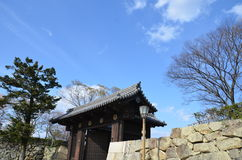 Gate of Himeji Castle. Japan. Diamond Gate, the first of the castle`s 21 remaining gates. The main entrance of Himeji Castle Stock Images
