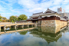 Gate of Hiroshima castle in Hiroshima Prefecture, Chugoku region. Japan stock images