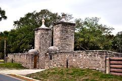 Gate in Historic St. Augustine, Florida. Royalty Free Stock Photography