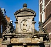 Gate in Hofstraat, Dordrecht, The Netherlands stock photos