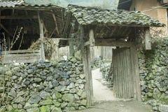 Gate of home of ethnic minorities Stock Image