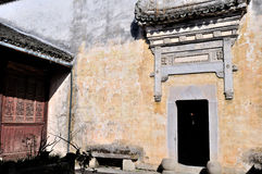 The gate in Hong village Stock Image