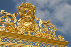 Gate of Honour - Palace of Versailles. Versailles was the seat of political power in the Kingdom of France from 1682, when Louis XIV moved the royal court from Royalty Free Stock Photos