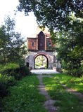 Gate house in countryside Stock Images