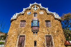 Gate House - Park Guell, Barcelona, Spain. Gate House - Park Guell, Barcelona, Catalonia, Spain, Europe Royalty Free Stock Image