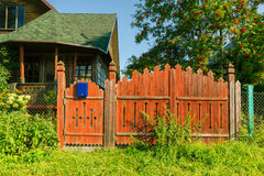 The gate by the house in the Russian village Royalty Free Stock Photo