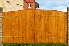 Gate house wooden board Royalty Free Stock Photos