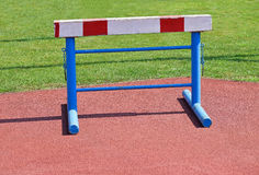 Gate of the hurdling race Royalty Free Stock Photography