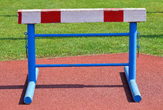 Gate of the hurdling race Stock Photos