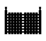 Gate icon illustrated. On white background stock illustration