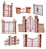 Gate icon Set, vector illustration Stock Image