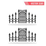 Gate icon. Vector sign symbol. Isolated on white background Stock Image