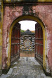 Gate in  the Imperial City of Hue, Vietnam Stock Photography