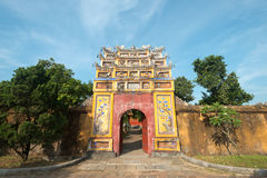 Gate within the Imperial City, Hue, Vietnam Royalty Free Stock Photos