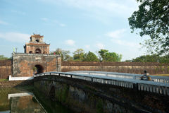 Gate within the Imperial City, Hue, Vietnam Royalty Free Stock Photo