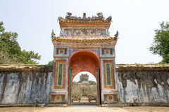 The Gate of Imperial Tomb of Tu Duc royalty free stock photography