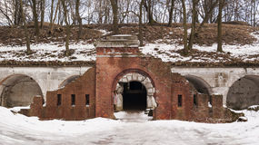 Free Gate In Siesliska Fortifications Salis Soglio. Stock Photos - 86582593