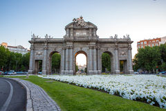 Gate at Independence Square Madrid Spain Royalty Free Stock Image