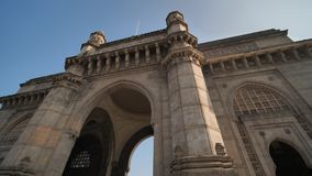 Gate of India in Mumbai against a blue sky. Gate of India in Mumbai against a blue sky stock video footage
