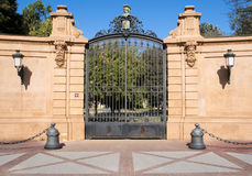 Gate of iron Stock Photo