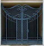 Gate from iron rods Stock Image