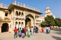 Gate in Jaipur City Palace, India Stock Images