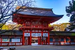 A gate of Japanese shrine Stock Photos