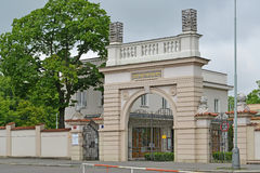 Gate of the Jewish part of the Olshansky cemetery in Prague Royalty Free Stock Photo