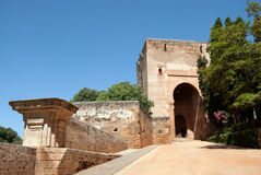 The Gate of Justice in Alhambra. Granada, Spain royalty free stock photography