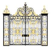 Gate of Kensington Palace, London, United Kingdom. Residence of The Duke and Duchess of Cambridge Stock Image