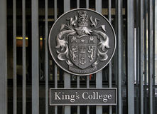 The gate of King�s College in London Royalty Free Stock Images