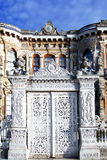Gate of the kiosk. Gate of the historical kiosk with sultans signature Royalty Free Stock Image