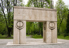 Gate of the Kiss, sculpture of Constantin Brancusi