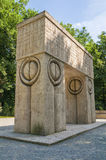 Gate of the Kiss. Sculpture of romanian artist Constantin Brancusi in Targu Jiu , Romania Stock Photos