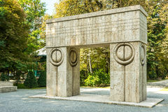The Gate of the Kiss. Stone Sculpture Made By Constantin Brancusi in 1938 In Targu Jiu, Romania Royalty Free Stock Photography