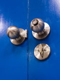 Gate Knob steel lock Royalty Free Stock Images