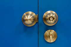 Gate Knob steel lock Royalty Free Stock Image