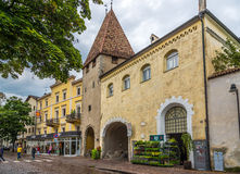 Gate Kreuztor - Entrance to old city of Bressanone. Royalty Free Stock Photos