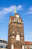 The gate Kroepeliner Tor in Rostock Stock Image