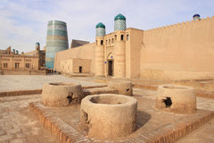 The gate of Kunya Ark Palace in Ichan Kala in Khiva city, Uzbekistan Royalty Free Stock Images