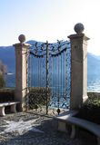 Gate in lake Royalty Free Stock Image