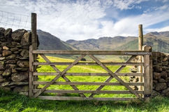 Gate in the lake district Royalty Free Stock Image