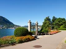 Gate at lake of Villa Ciani Stock Photography