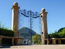 Gate at lake of Villa Ciani Royalty Free Stock Photo