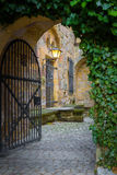 Gate with a Lamp in the Veste Stock Photos