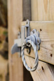 Gate Latch. Detail of a traditional rustic country gate latch royalty free stock image