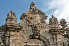 Gate leading to the Royal Palace in Buda castle, Budapest stock photos