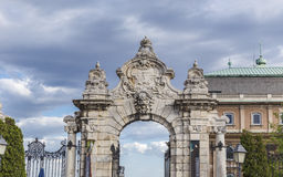 The gate leading to the Royal Palace Royalty Free Stock Photo