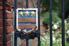 Gate Leading to Washington Memorial Garden at the Freedom Trail (Boston, Massachusetts, USA / August 9, 2015) Royalty Free Stock Photography