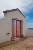 The gate in Lighthouse of Cabo de Sao Vicente Stock Photos